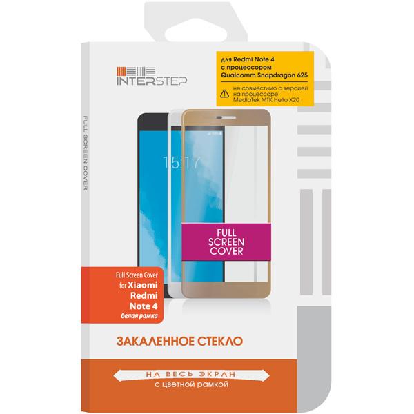 цена Защитное стекло InterStep для Xiaomi Redmi Note 4 QC White онлайн в 2017 году