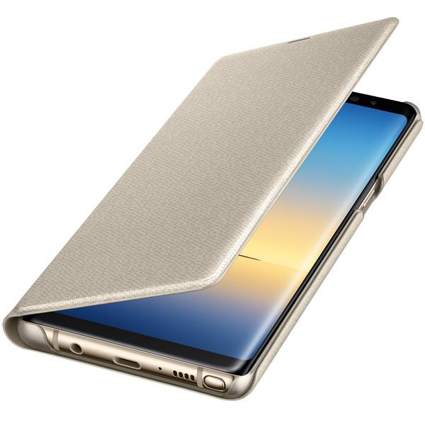 Чехол для сотового телефона Samsung Galaxy Note 8 LED View Gold (EF-NN950PFEGRU) чехол для сотового телефона samsung galaxy note 8 alcantara blue ef xn950ajegru