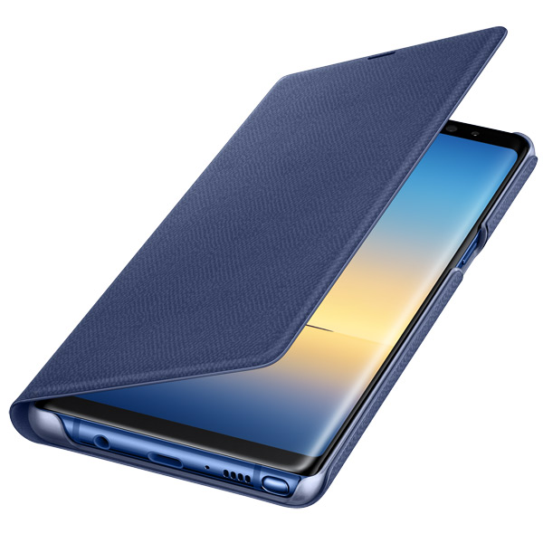 Чехол для сотового телефона Samsung Galaxy Note 8 LED View Blue (EF-NN950PNEGRU) чехол книжка samsung ef cn920pfegru для galaxy note 5 s view золотистый