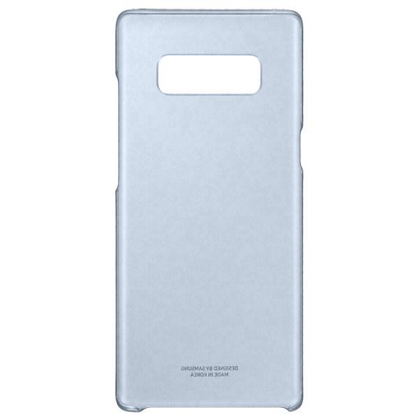 Чехол для сотового телефона Samsung Galaxy Note 8 Clear Cover Blue (EF-QN950CNEGRU) чехол клип кейс samsung alcantara cover great для samsung galaxy note 8 хаки [ef xn950akegru]