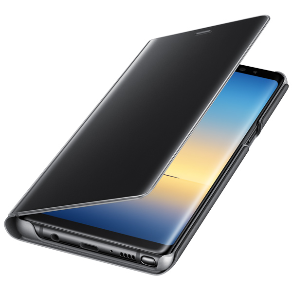 Чехол для сотового телефона Samsung Galaxy Note 8 Clear View Standing Cover Black чехол клип кейс samsung alcantara cover great для samsung galaxy note 8 хаки [ef xn950akegru]