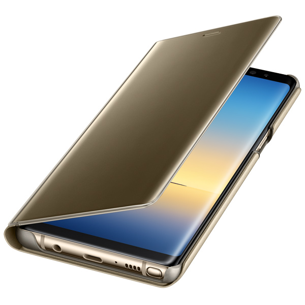 Чехол для сотового телефона Samsung Galaxy Note 8 Clear View Standing Cover Gold чехол клип кейс samsung alcantara cover great для samsung galaxy note 8 хаки [ef xn950akegru]