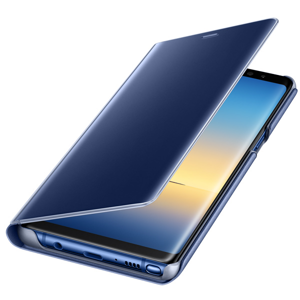 Чехол для сотового телефона Samsung Galaxy Note 8 Clear View Standing Cover Blue чехол клип кейс samsung alcantara cover great для samsung galaxy note 8 хаки [ef xn950akegru]