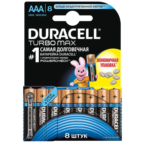 Батарея Duracell Turbo Max AAA LR03 8 шт. choose language unlock good quality original motherboard for desire hd a9191mainboard board free shipping