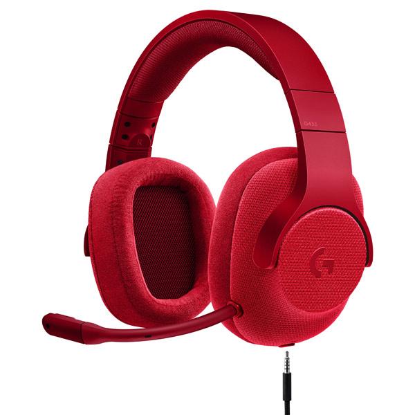 Игровые наушники Logitech G433 7.1 Fire Red (981-000652) rga r 981 sports watche red