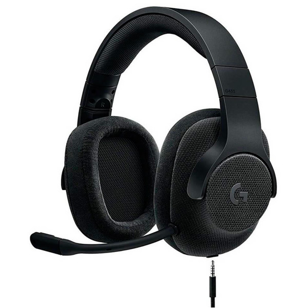 Игровые наушники Logitech G433 7.1 Triple Black (981-000668) rga r 981 sports watche black