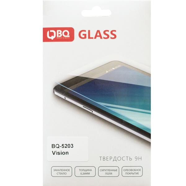 Защитное стекло BQ для BQ-5203 Vision смартфон bq mobile vision black bq 5203