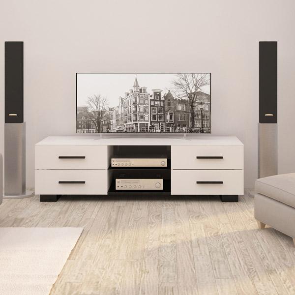 Подставка для телевизора Mart Командор White подставка для телевизора mart стерео 3 black