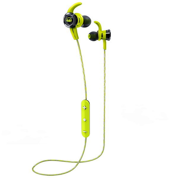 Спортивные наушники Bluetooth Monster — iSport Victory Green (137086-00)