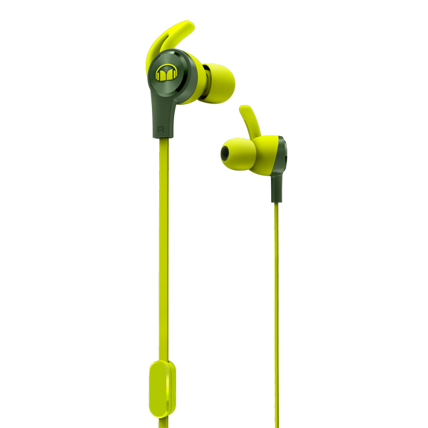 Спортивные наушники Monster — iSport Achieve Green (137091-00)