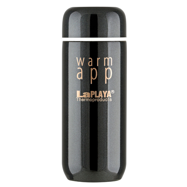 Термокружка LaPlaya Warm App Black 0,2л (560034) смартфон xiaomi redmi note 4 64gb silver android 6 0 marshmallow mt6797 2100mhz 5 5 1920x1080 3072mb 64gb 4g lte [6954176828293]