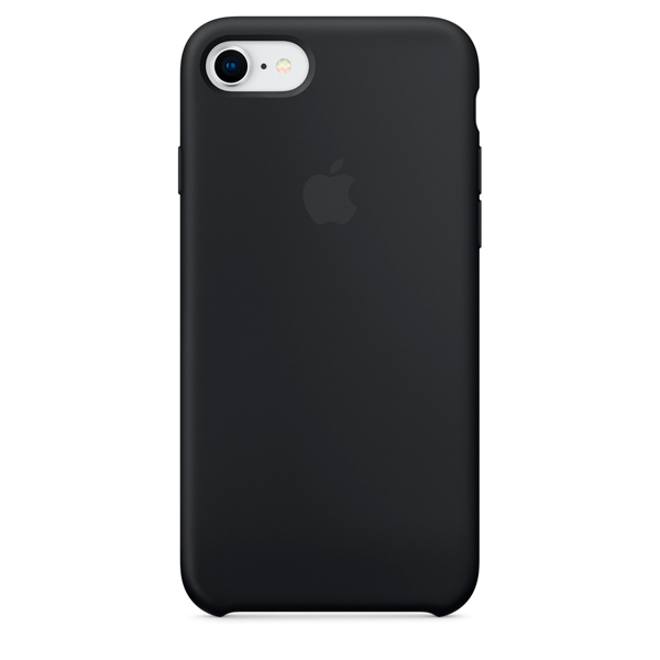 Чехол для iPhone Apple iPhone 8 / 7 Silicone Case Black (MQGK2ZM/A) чехол накладка apple silicone case black для iphone 7 mmw82zm a силикон черный