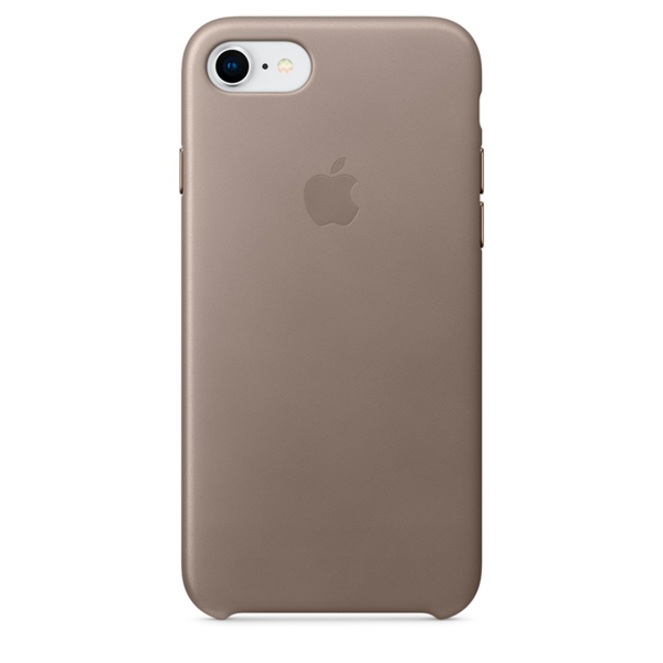 все цены на Чехол для iPhone Apple iPhone 8 / 7 Leather Case Taupe (MQH62ZM/A) онлайн