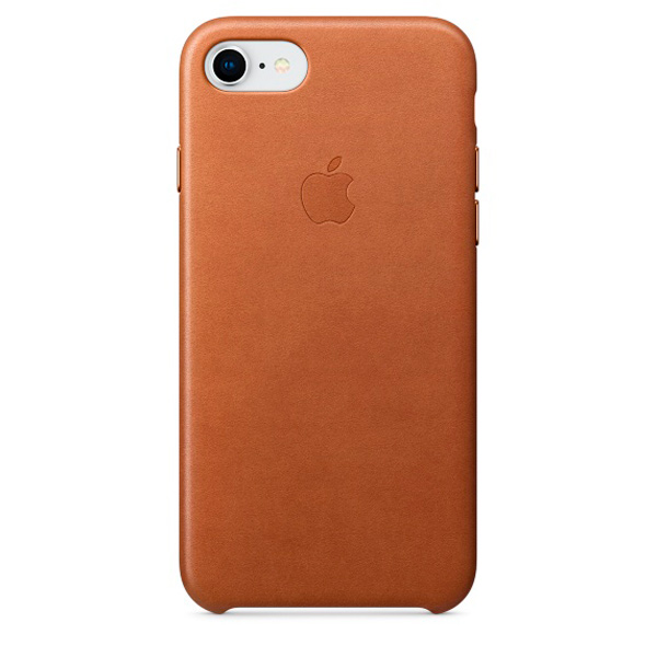 Чехол для iPhone Apple iPhone 8 / 7 Leather Saddle Brown (MQH72ZM/A) чехол для iphone 6s plus apple leather case saddle brown золотисто коричневый mkxc2zm a