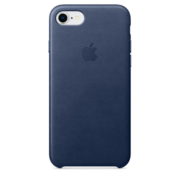 Чехол для iPhone Apple iPhone 8 / 7 Leather Midnight Blue (MQH82ZM/A) чехол накладка apple leather case midnight blue для iphone 7 plus mmyg2zm a кожа темно синий