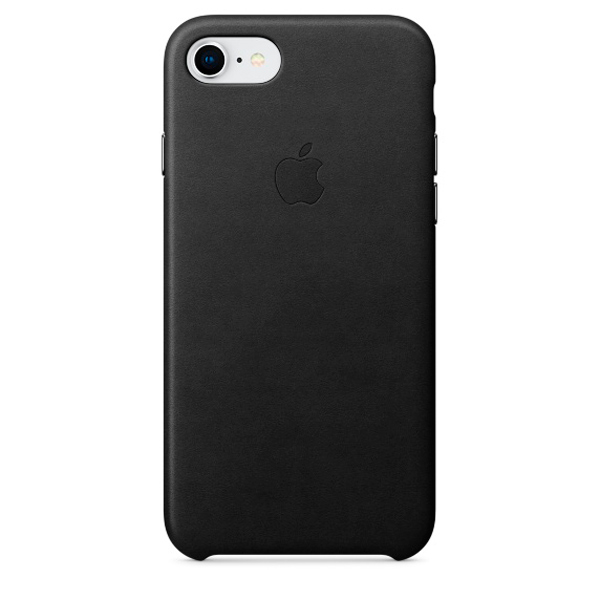 Чехол для iPhone Apple iPhone 8 / 7 Leather Case Black (MQH92ZM/A) аксессуар чехол apple iphone 8 7 leather case cosmos blue mqhf2zm a