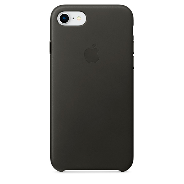 Чехол для iPhone Apple iPhone 8 / 7 Leather Charcoal  Gray (MQHC2ZM/A) клип кейс vlp для apple iphone 7 8 серый