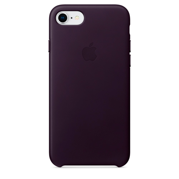 Чехол для iPhone Apple iPhone 8 / 7 Leather Dark Aubergine (MQHD2ZM/A) клип кейс vlp для apple iphone 7 8 серый