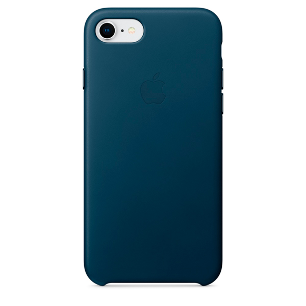 Чехол для iPhone Apple iPhone 8 / 7 Leather Case Cosmos Blue (MQHF2ZM/A) чехол накладка apple leather case midnight blue для iphone 7 plus mmyg2zm a кожа темно синий