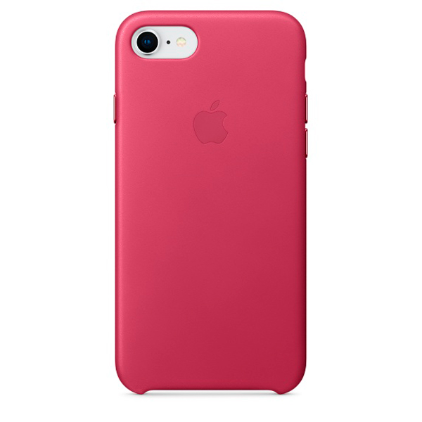 Чехол для iPhone Apple iPhone 8 / 7 Leather Pink Fuchsia (MQHG2ZM/A) клип кейс vlp для apple iphone 7 8 серый