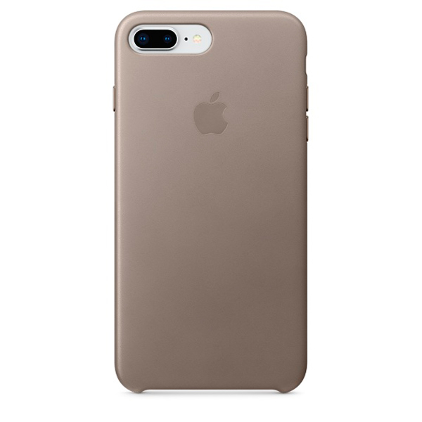 Чехол для iPhone Apple iPhone 8 Plus / 7 Plus Leather Taupe (MQHJ2ZM/A) apple чехол клип кейс apple для iphone 7 plus mptf2zm a