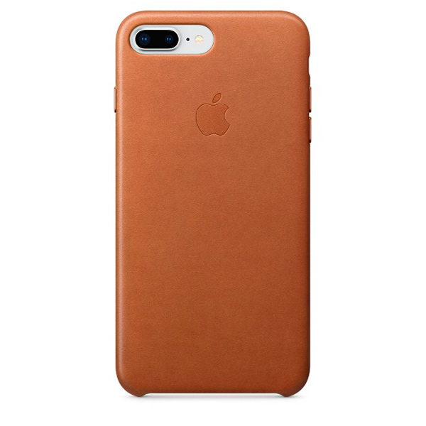 Чехол для iPhone Apple iPhone 8 Plus / 7 Plus Leather Saddle Brown чехол для планшета apple leather case iphone 8 7 taupe платиново серый mqh62zm a