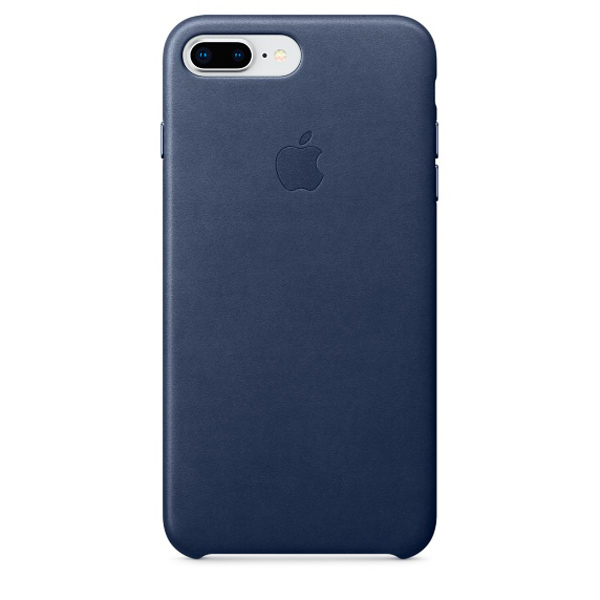 Чехол для iPhone Apple iPhone 8 Plus / 7 Plus Leather Midnight Blue аксессуар чехол apple iphone 8 7 leather case cosmos blue mqhf2zm a