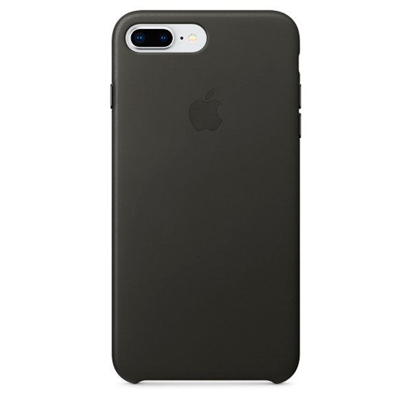 все цены на Чехол для iPhone Apple iPhone 8 Plus / 7 Plus Leather Charcoal Gray онлайн