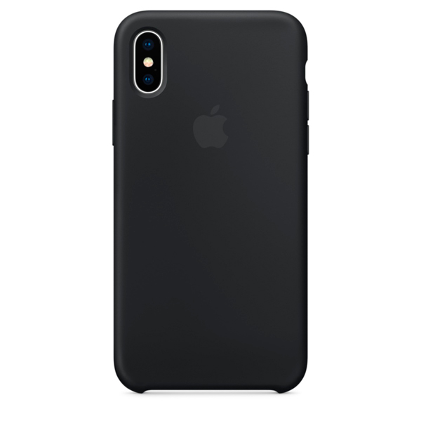 Чехол для iPhone Apple iPhone X Silicone Case Black (MQT12ZM/A) чехол накладка apple silicone case black для iphone 7 mmw82zm a силикон черный