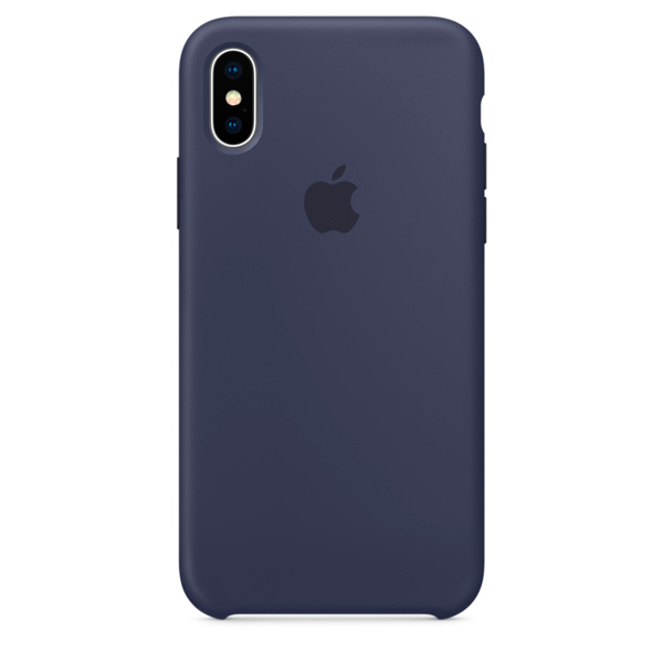 Чехол для iPhone Apple iPhone X Silicone Case Midnight Blue (MQT32ZM/A) чехол для iphone apple iphone 7 silicone case midnight blue mmwk2zm a