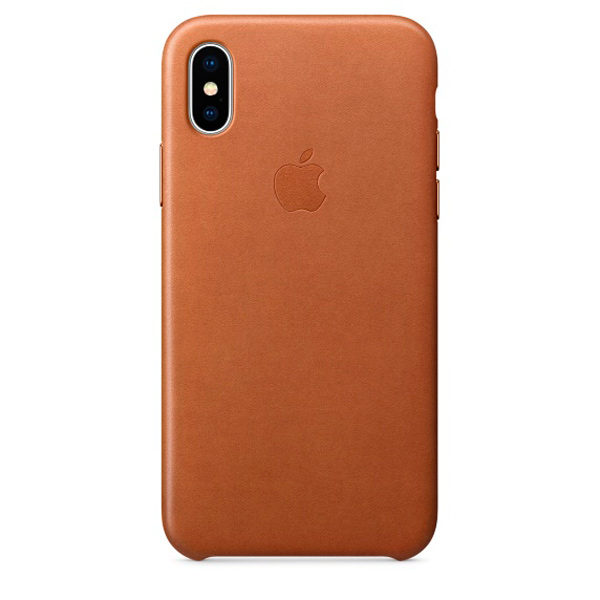 Чехол для iPhone Apple iPhone X Leather Case Saddle Brown (MQTA2ZM/A) чехол для iphone x apple leather case mqte2zm a product red