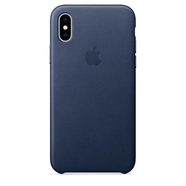 Чехол для iPhone Apple iPhone X Leather Case Midnight Blue (MQTC2ZM/A) чехол накладка apple leather case midnight blue для iphone 7 plus mmyg2zm a кожа темно синий