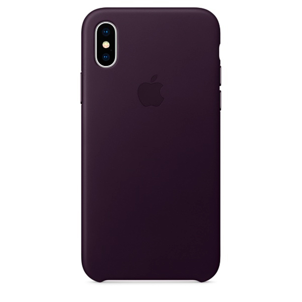 Чехол для iPhone Apple iPhone X Leather Case Dark Aubergine (MQTG2ZM/A) чехол для iphone x apple leather case mqte2zm a product red