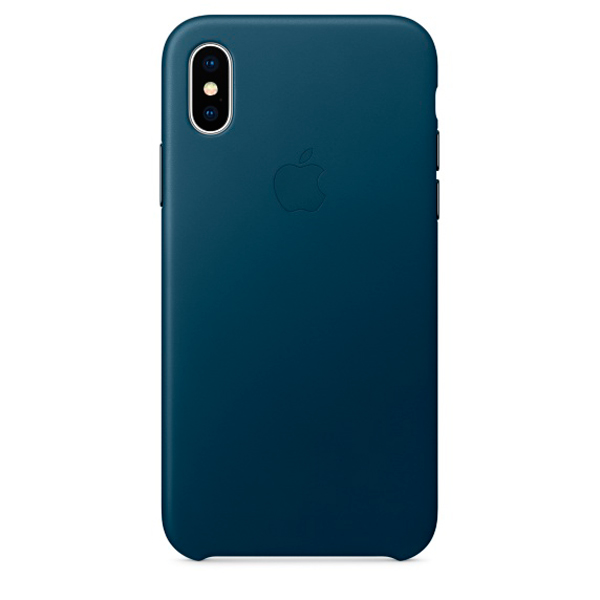 Чехол для iPhone Apple iPhone X Leather Case Cosmos Blue (MQTH2ZM/A) stylish flip open pu leather tpu case w holder for iphone 4 4s red