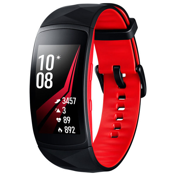 Smart Браслет Samsung Gear Fit2 Pro Black/Red,размер L (SM-R365NZRASER) смарт часы samsung gear s2 black