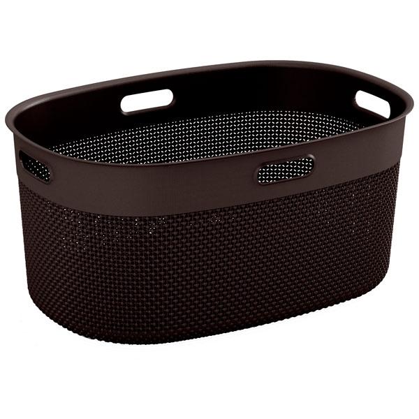 Корзина для белья KIS Filo Laundry Basket 45л Dark Brown корзина для белья сорренто 45л белый м1708