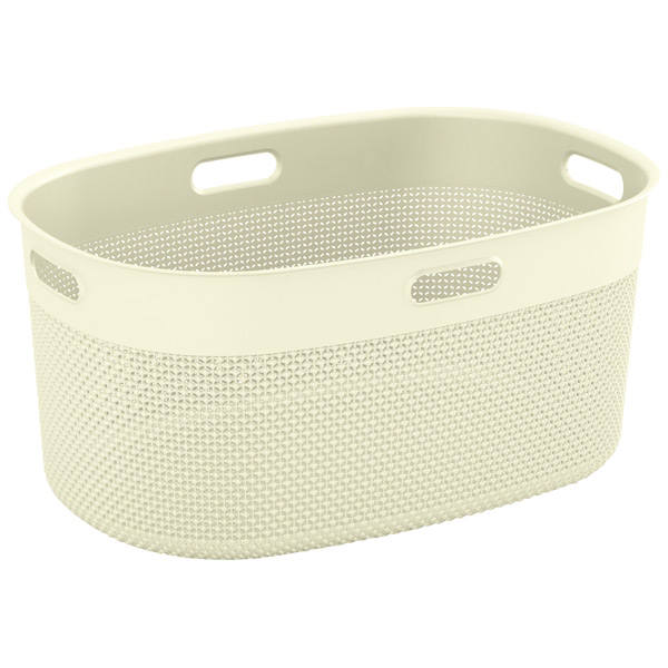 KIS, Корзина для белья, Filo Laundry Basket 45л Cream