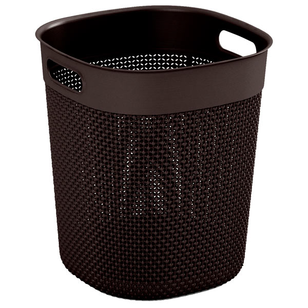 KIS, Корзина для белья, Filo Bucket 16л Dark Brown