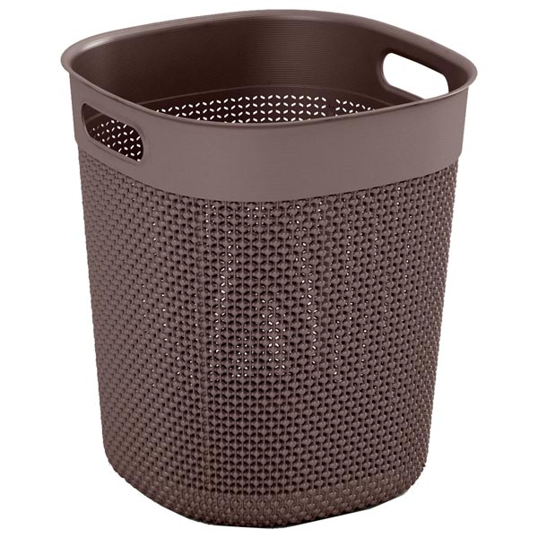 KIS, Корзина для белья, Filo Bucket 16л Grey-Brown