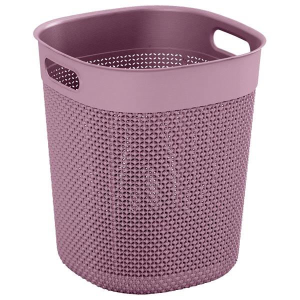 шкаф для гостиной kis 9708000 0313 excellence high cabinet sand dove grey Корзина для белья KIS Filo Bucket 16л Pink