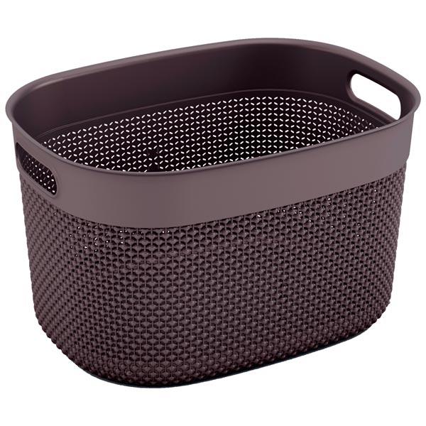 шкаф для гостиной kis 9708000 0313 excellence high cabinet sand dove grey Корзина для белья KIS Filo Basket L 18л Grey-Brown