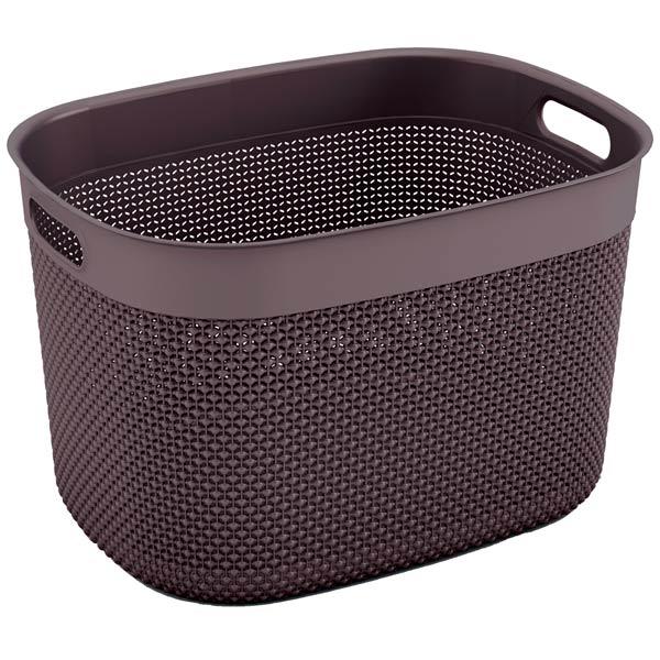 шкаф для гостиной kis 9708000 0313 excellence high cabinet sand dove grey Корзина для белья KIS Filo Basket XL 30л Grey-Brown