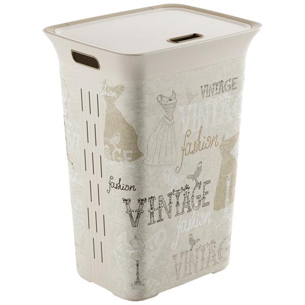 шкаф для гостиной kis 9708000 0313 excellence high cabinet sand dove grey Корзина для белья KIS Chic Hamper Classic 60л