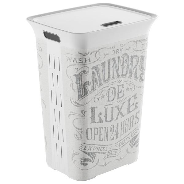шкаф для гостиной kis 9708000 0313 excellence high cabinet sand dove grey Корзина для белья KIS Chic Hamper Laundry Bag 60л