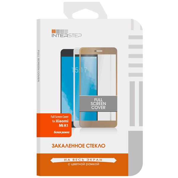 Защитное стекло InterStep Full Screen Cover для Xiaomi Mi A1 White беспроводная акустика interstep sbs 150 funnybunny blue is ls sbs150blu 000b201