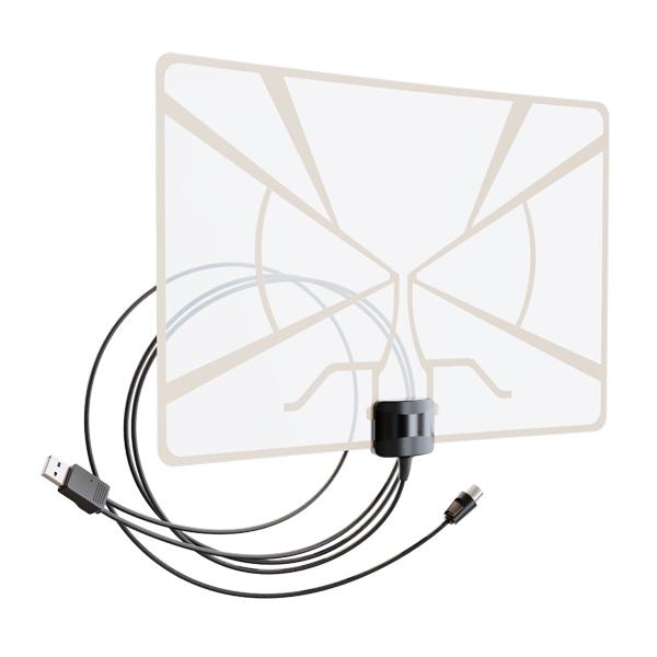 Антенна телевизионная комнатная Рэмо BAS-5324-USB комнатная всеволновая антенна рэмо сириус 2 0