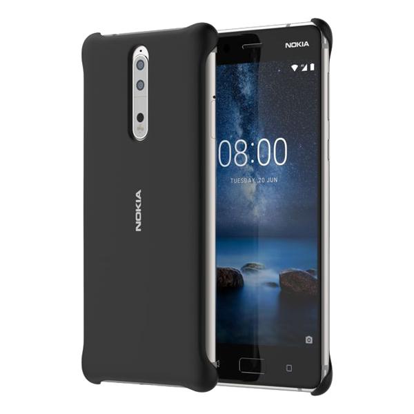 Чехол для сотового телефона Nokia 8 Soft Touch Case Black (СC-801) чехол для сотового телефона nokia 5 blue ср 302