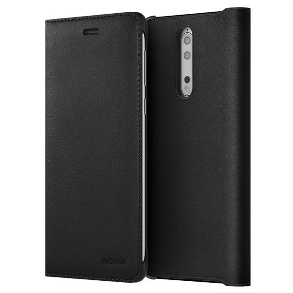 Чехол для сотового телефона Nokia 8 Leather Flip Cover Black (СP-801) чехол для сотового телефона nokia 5 blue ср 302