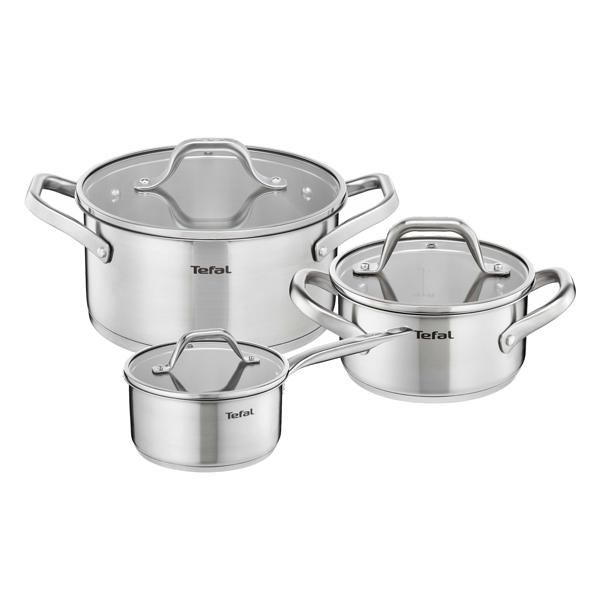 Набор посуды (нержавейка) Tefal Hero 6 шт.: 1,6/3/5,4л (E825S374)