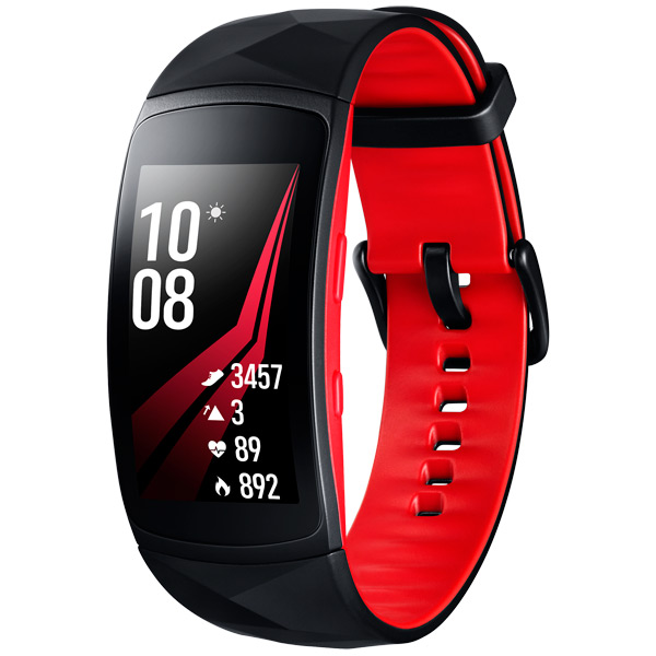 Smart Браслет Samsung Gear Fit2 Pro Black/Red,размер S (SM-R365NZRNSER) samsung gear fit в казани
